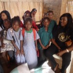 Our Sponsored Girls in Guinea, receiving their Gifts and Food